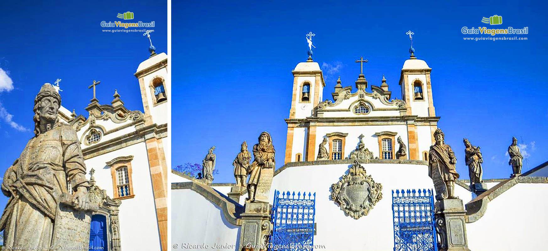 Basílica de Bom Jesus dos Matosinhos, em Congonhas, Minas Gerais, foi reconhecido como Patrimônio Cultural da Humanidade pela Unesco em 1985. - Fotos de Ricardo Junior / www.ricardojuniorfotografias.com.br