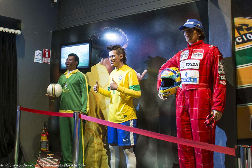 Famosos do esporte estão homenageados no Museu de Cera, em Gramado, Rio Grande do Sul. Photograph by Ricardo Junior / www.ricardojuniorfotografias.com.br
