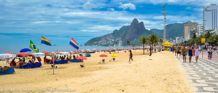 Foto das Praias de Ipanema e Leblon no Rio de Janeiro - Photograph by Ricardo Junior / www.ricardojuniorfotografias.com.br