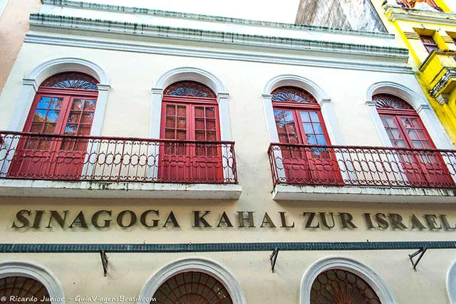 A antiga sinagoga abriga hoje o Centro Cultural Judaico, em Recife Antigo. Photograph by Ricardo Junior / www.ricardojuniorfotografias.com.br