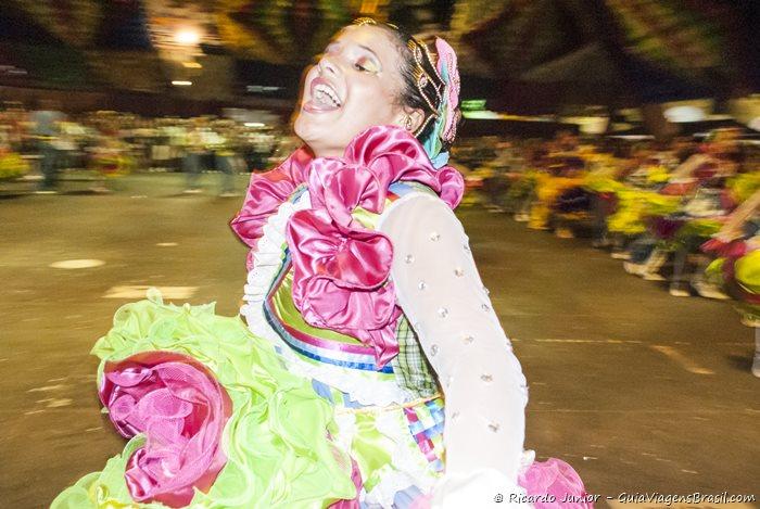 Dançarina de quadrilha na festa de São João em Campina Grande, na Paraíba - Photograph by Ricardo Junior / www.ricardojuniorfotografias.com.br