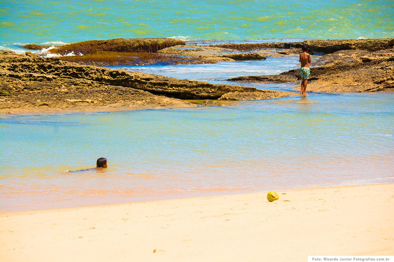 Praia de Caraíva, do lado de Porto Seguro, BA. <br /> Fotos de Ricardo Junior / www.ricardojuniorfotografias.com.br