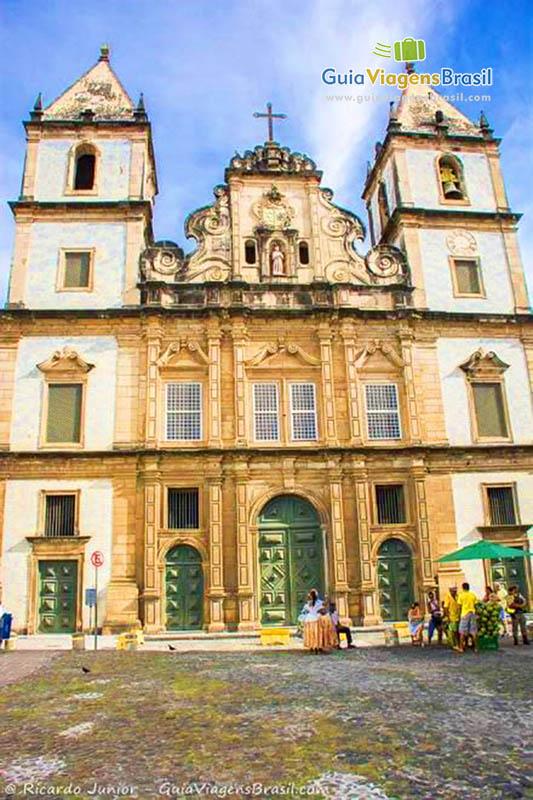 Fachada da Igreja de São Francisco, no Pelourinho, Salvador, BA. Fotos de Ricardo Junior / www.ricardojuniorfotografias.com.br