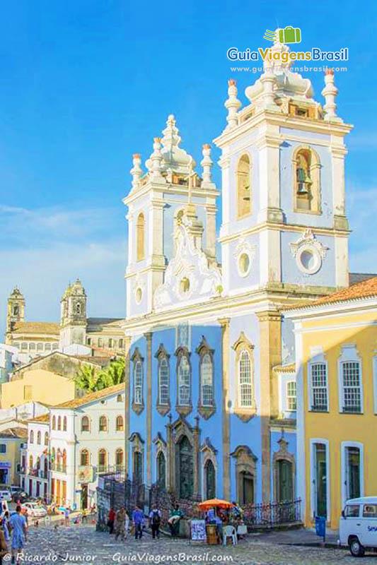 Igreja de Nossa Senhora do Rosário dos Pretos, no Largo do Pelourinho, em Salvador, BA. Fotos de Ricardo Junior / www.ricardojuniorfotografias.com.br