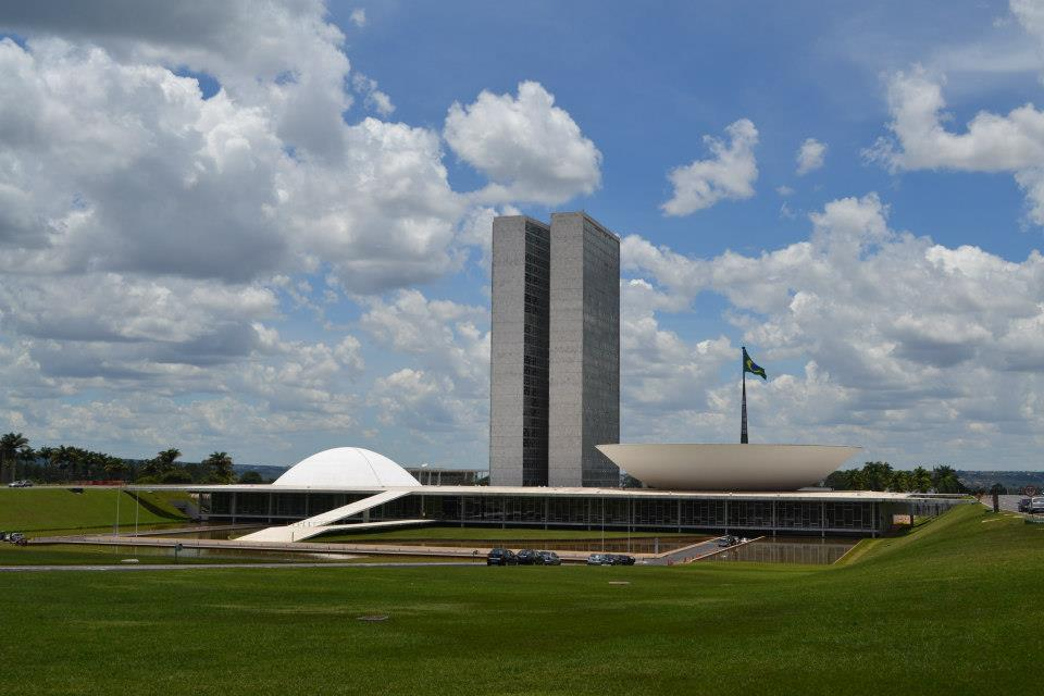 Congresso Nacional, tombado como Patrimônio Nacional, em Brasília, DF. Foto: Banco de Imagens.