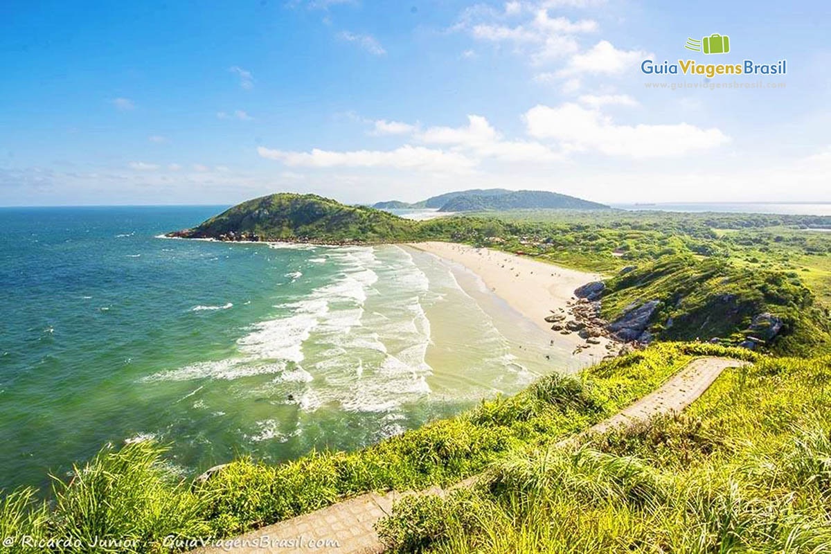 Foto mirante Praia de Fora, Ilha do Mel, PR.