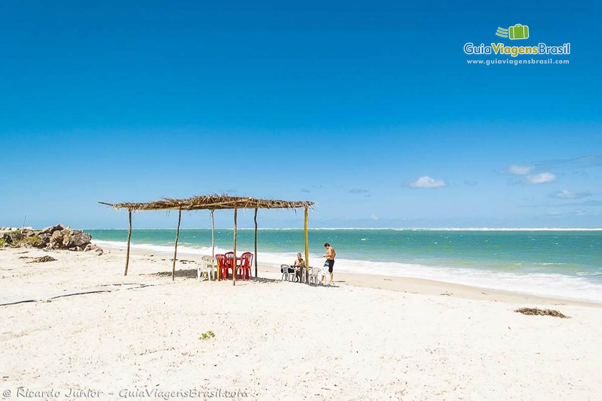 Foto linda Praia do Saco, em Aracaju, SE.