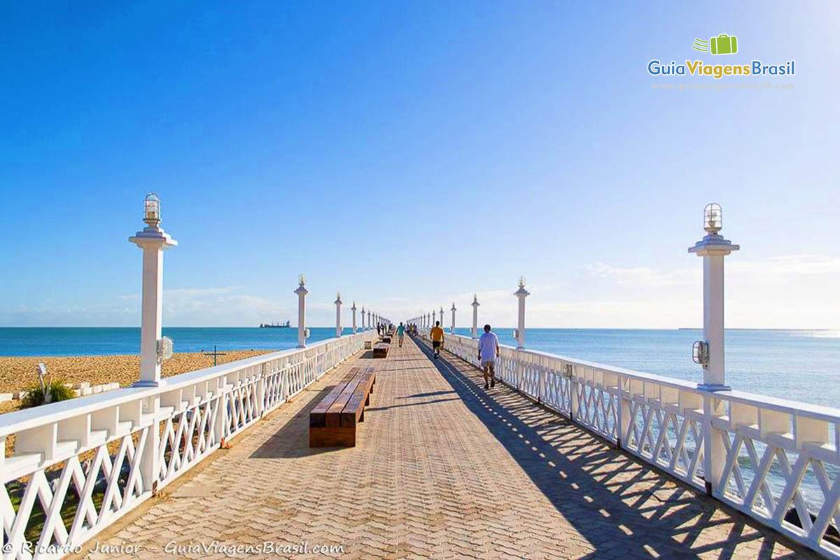 Foto Ponte dos Ingleses, na Praia de Iracema, Fortaleza, CE.