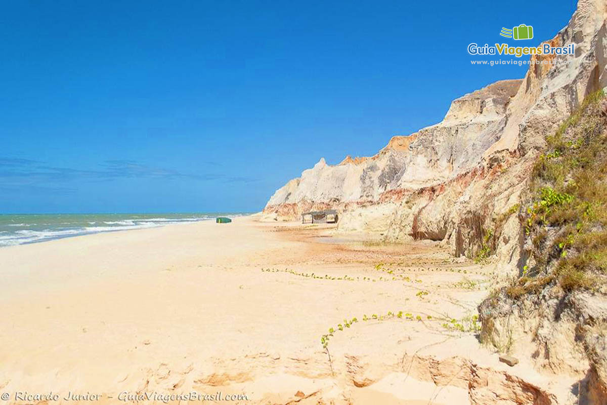 Foto Praia de Morro Branco, Beberibe, CE.