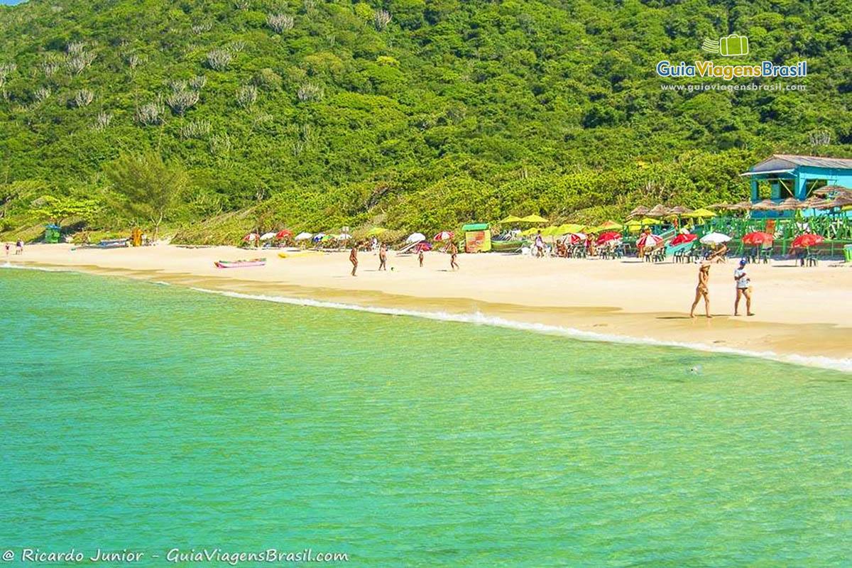 Foto orla Praia do Forno, Arraial do Cabo, Rio de Janeiro.