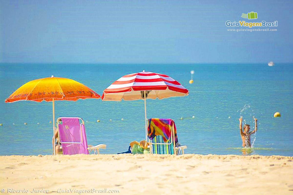 Foto do mar da Praia de Zimbros, Bombinhas.