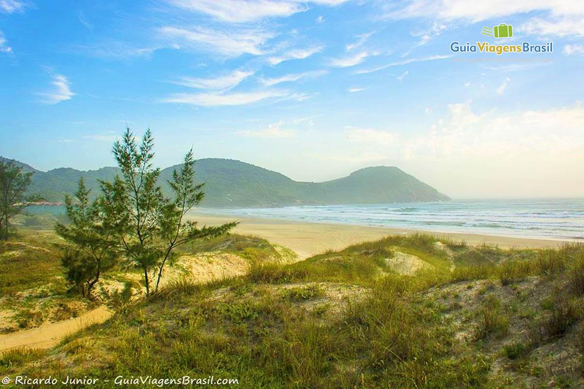 Foto da Praia do Luz, em Imbituba, SC.