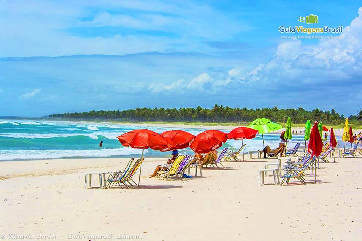 Foto barraca na Praia do Francês.