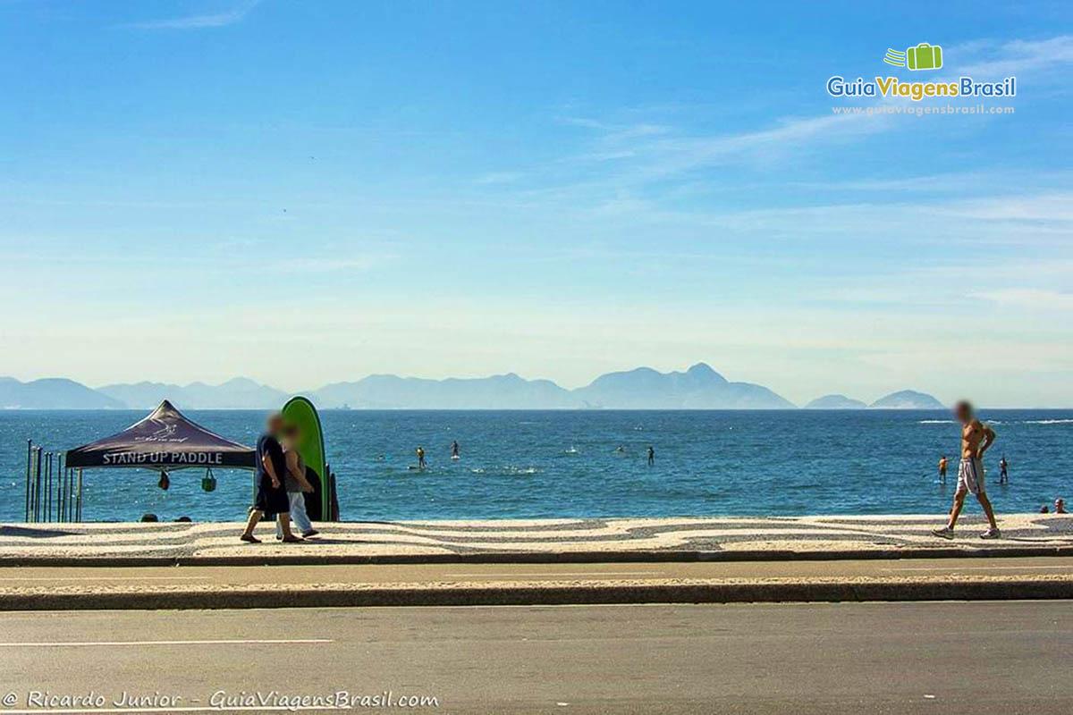 Foto Orla da Praia de Copacabana, RJ.