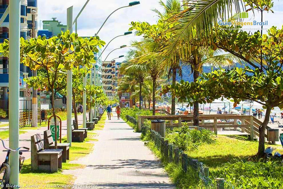 Foto Calçadão Meia Praia, SC.