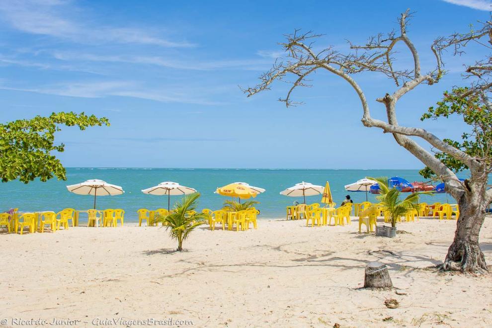 Foto Praia de Coroa Vermelha, em Santa Cruz de Cabrália, na Bahia.