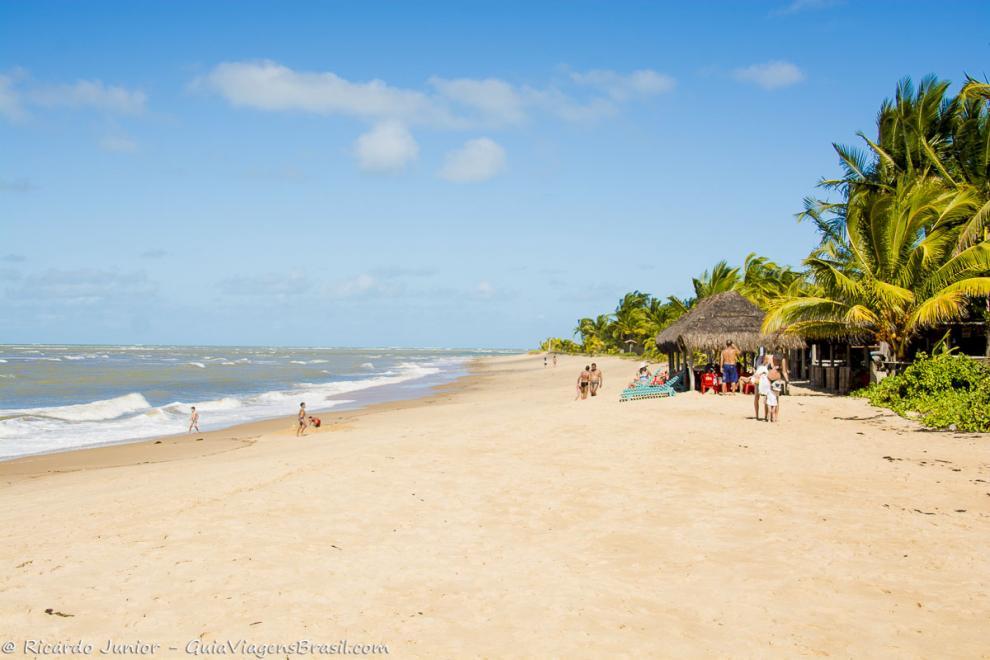Foto Praia de Guaiú, em Santo André, Santa Cruz Cabrália, na Bahia.