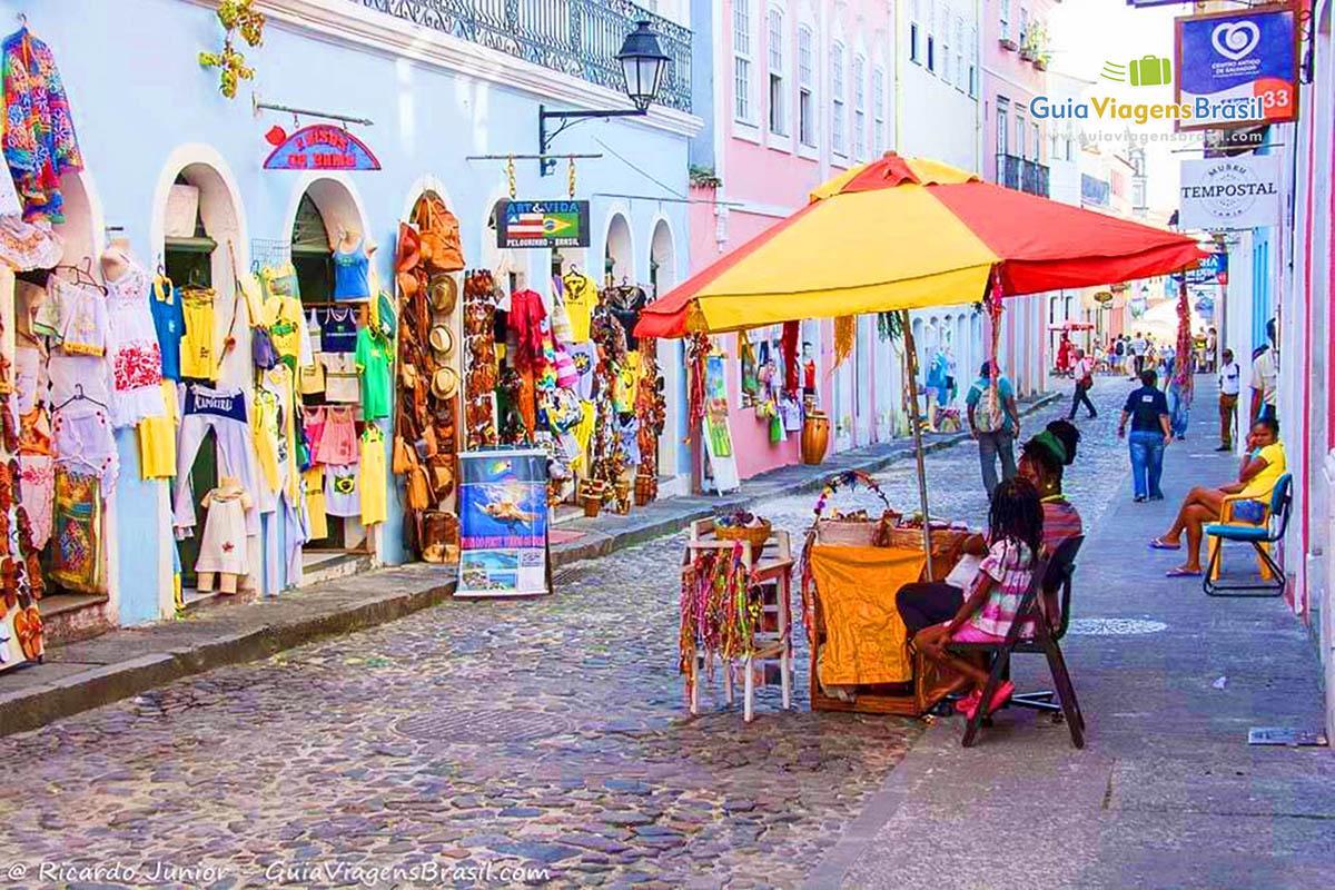 Foto casas coloridas do Pelourinho, Salvador, BA.