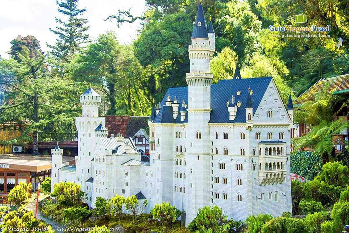 Foto castelo do Mini Mundo, Gramado, RS.
