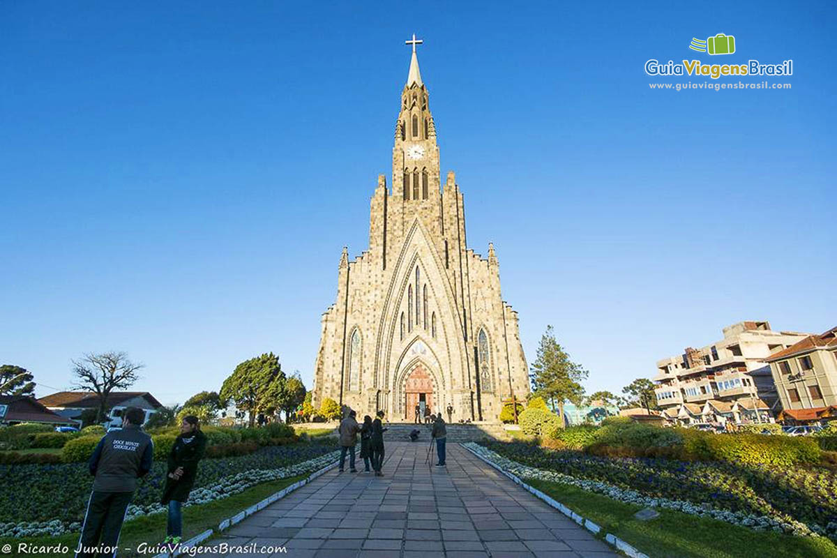 Foto da Igreja Matriz Nossa Senhora Lourdes, de Canela, RS.