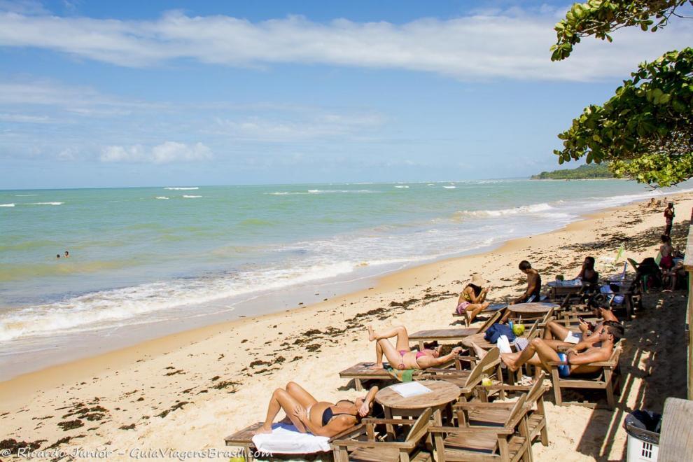 Foto Praia de Araçaípe, em Arraial D`Ajuda, BA.