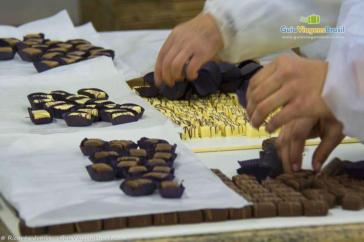 Foto fábrica de chocolate, Gramado, RS.