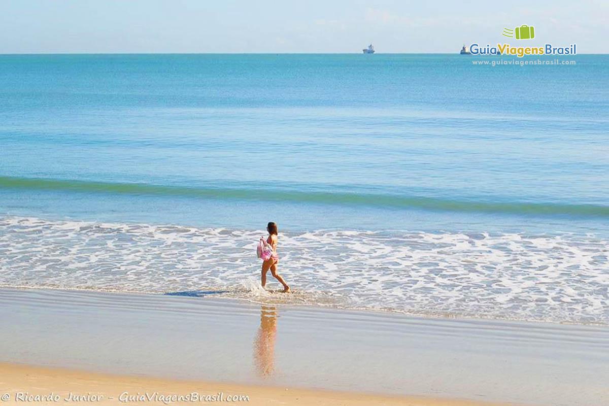 Foto mar Praia de Iracema, em Fortaleza, CE,
