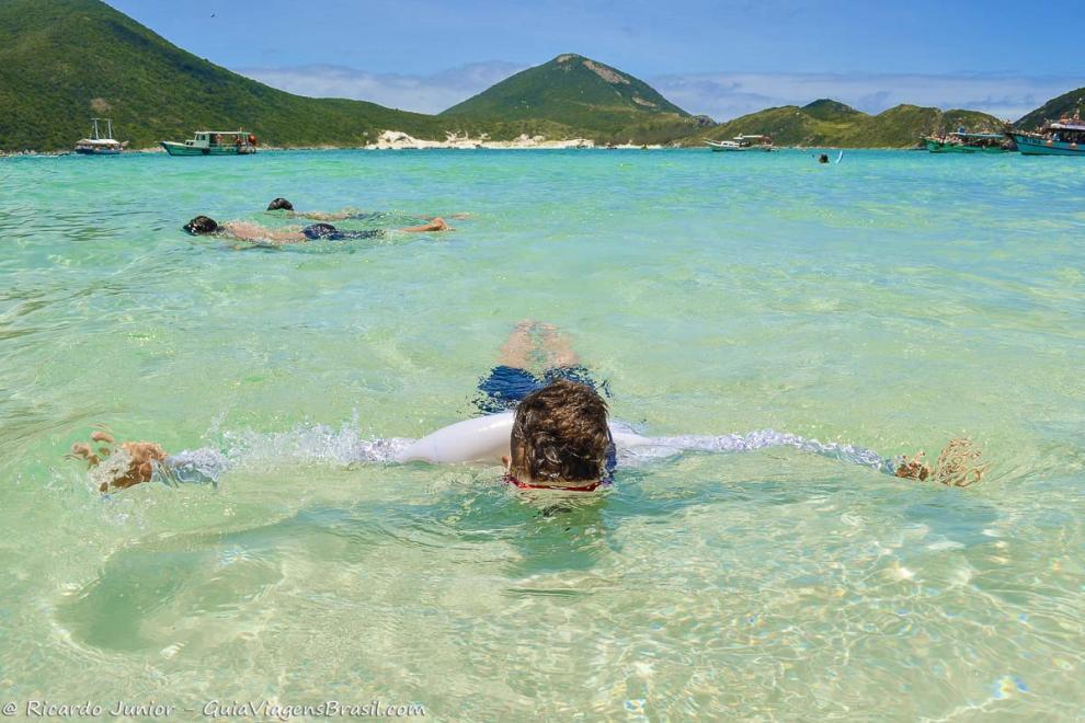 Foto mergulho em Arraial do Cabo, RJ.