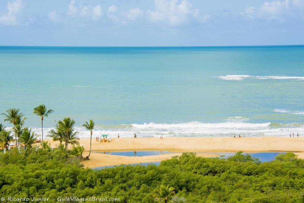 Foto mirante da Praia dos Nativos, Trancoso, BA.
