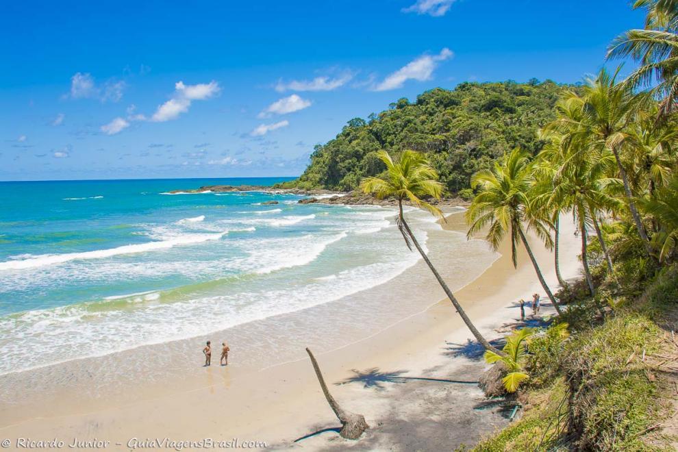 Foto orla Praia da Engenhoca, Itacaré, BA.