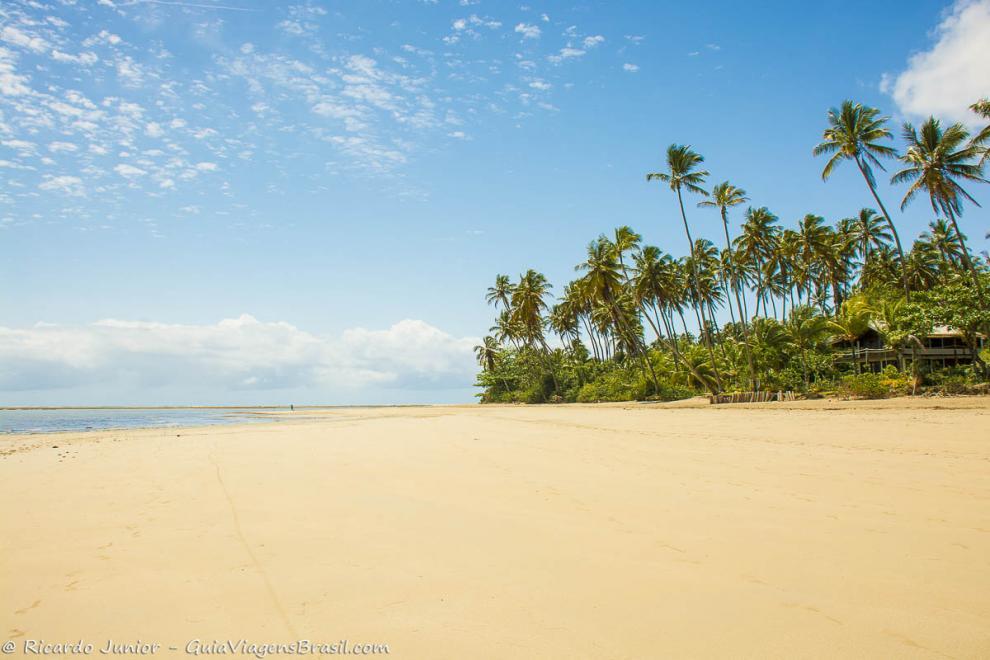 Foto Praia de Bainema, na Ilha de Boipeba, BA.