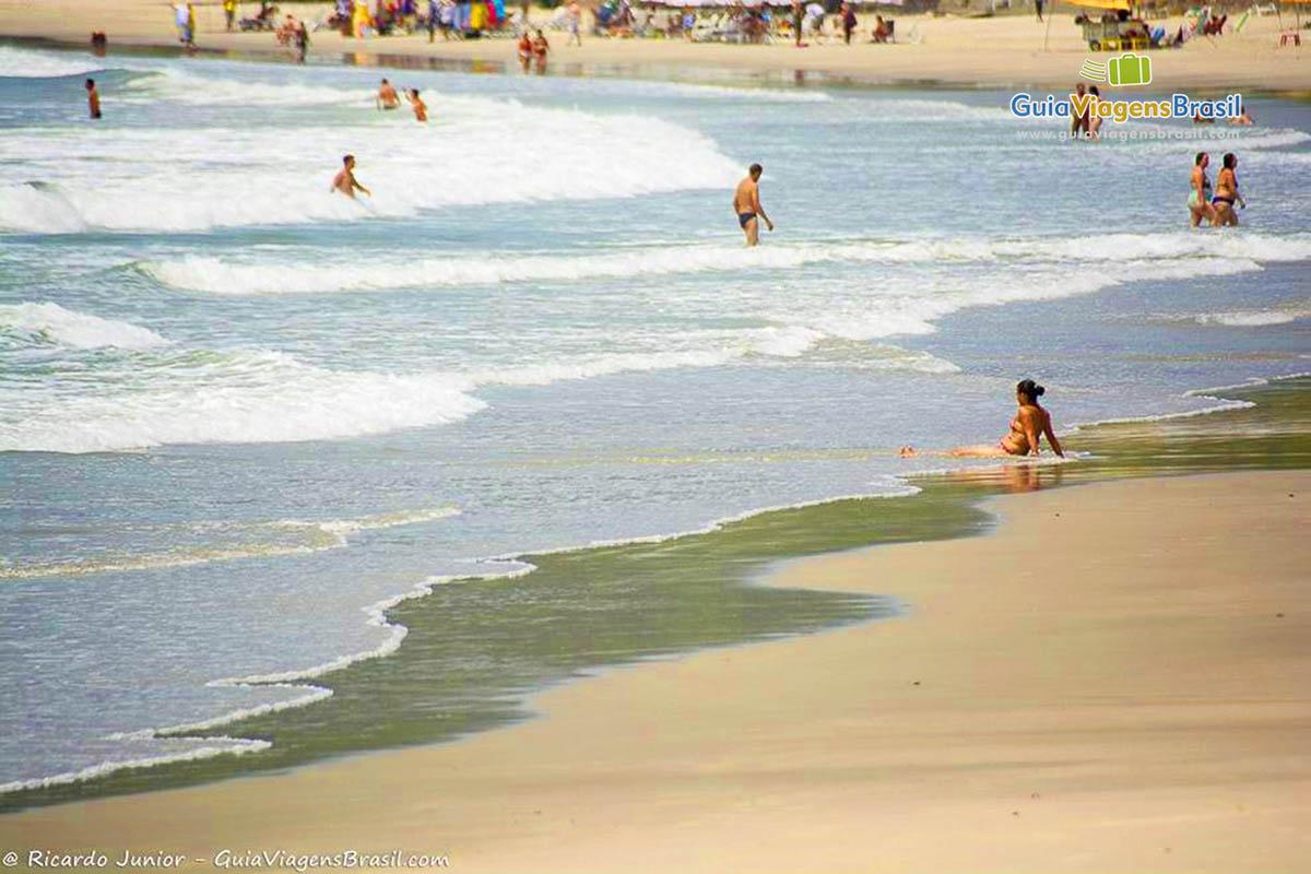 Foto praia de Pernambuco, Guarujá, SP.