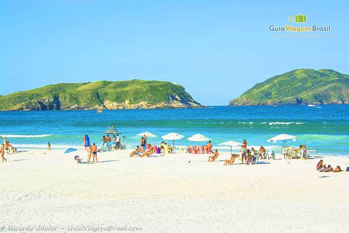Foto Praia das Dunas, em Cabo Frio, RJ.