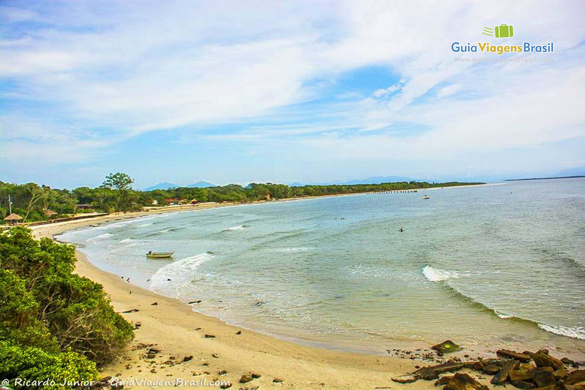 Praia da Fortaleza, Ilha do Mel, PR.