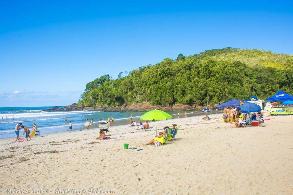 Foto Praia de Itamambuca, em Ubatuba, SP.