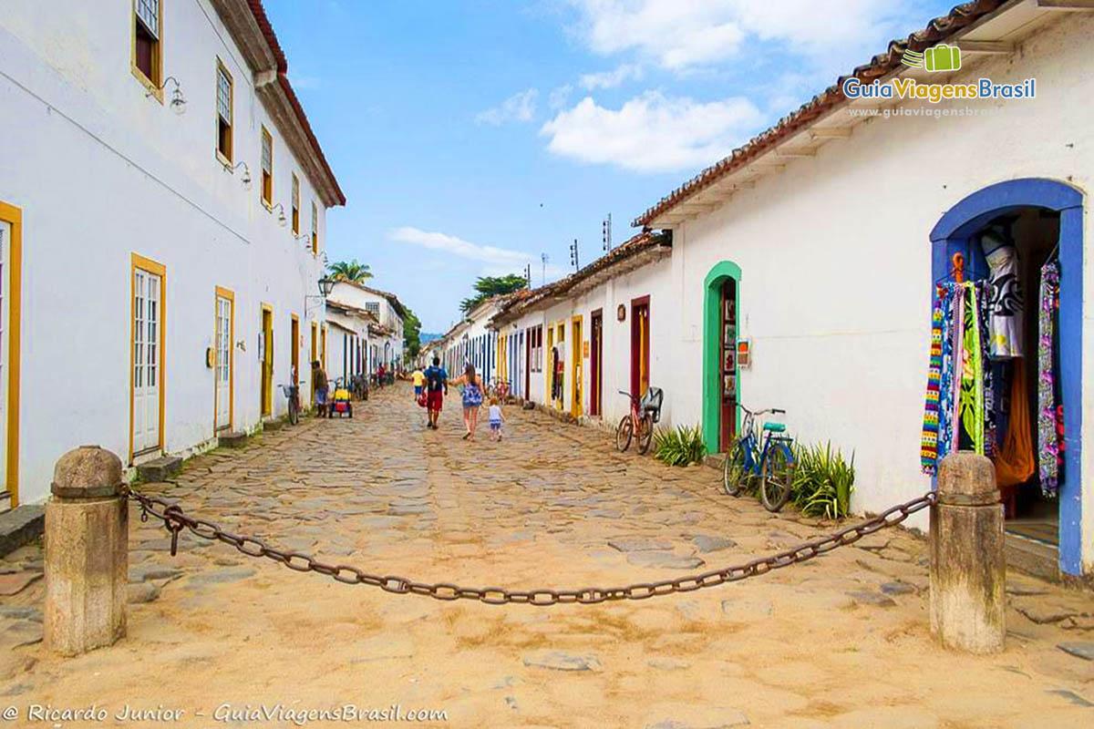 Foto ruela Centro Histórico de Paraty, RJ.