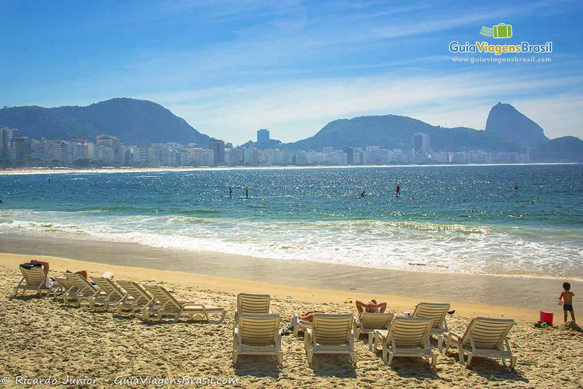 Foto da Praia de Copacabana, RJ.