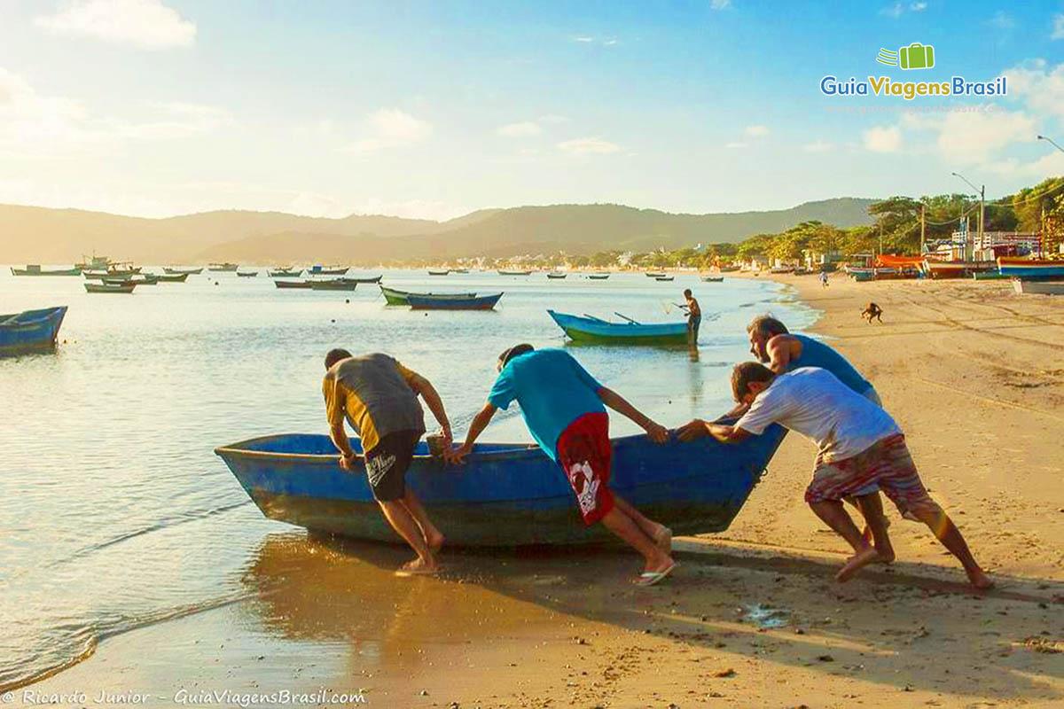 Foto pescadores de Tainha, Bombinhas, SC.
