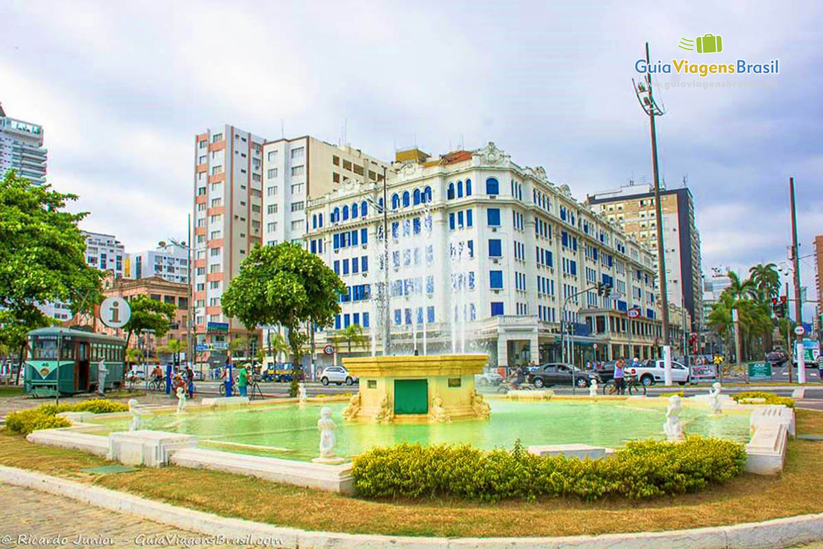 Foto centro de Santos, SP.