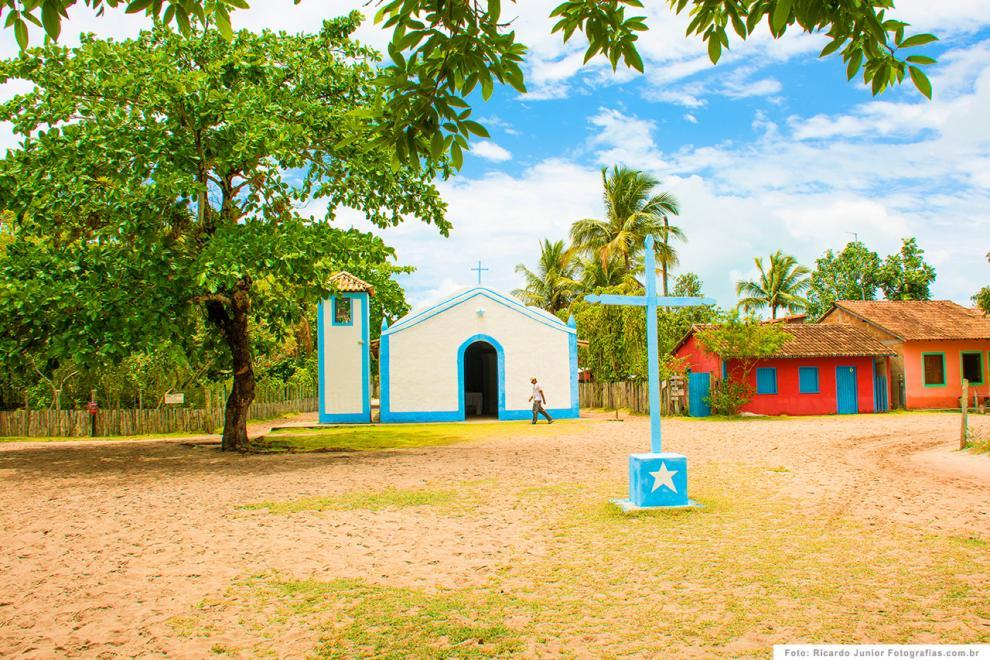 Foto centrinho Igreja São Sebastião, Caraíva, BA.