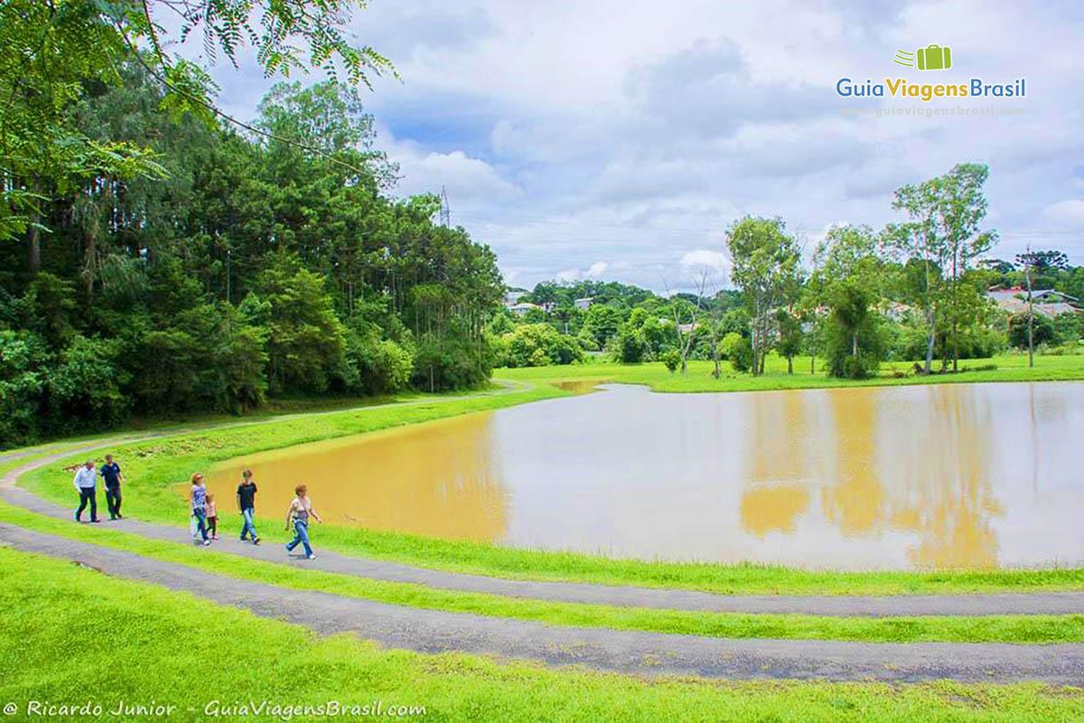 Foto lago Parque Tingui, Curitiba, PR.