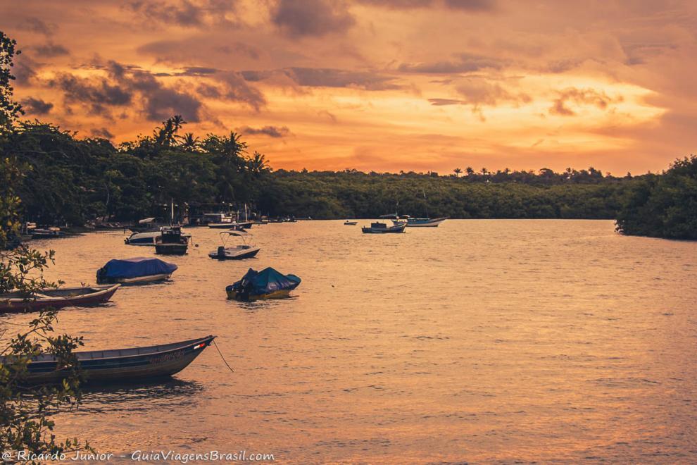 Foto pôr do Sol Caraíva, BA.