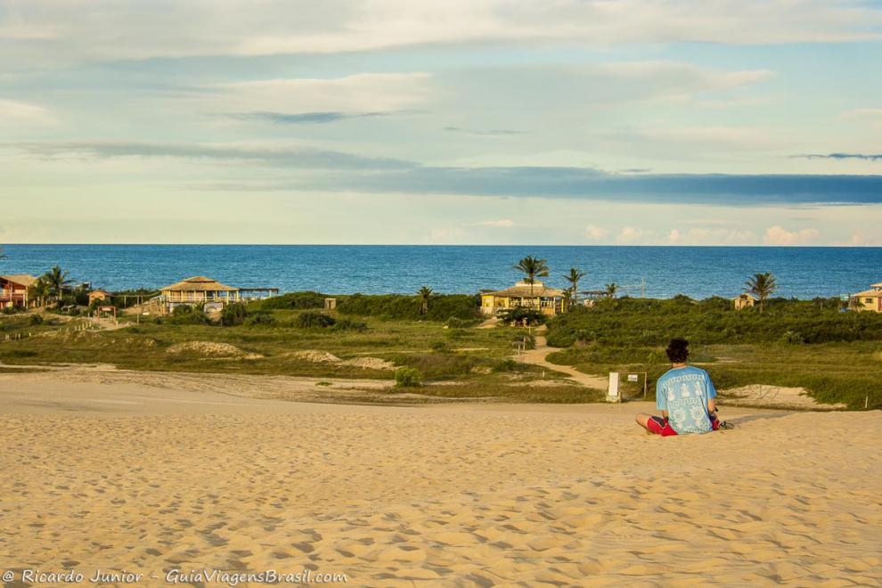 Foto mirante da Praia de Itaúnas, em Conceição da Barra, ES.