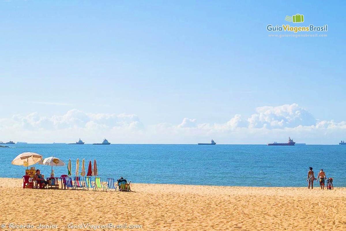 Foto orla da Praia da Costa, Vila Velha, ES.