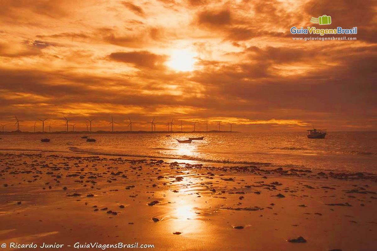 Foto pôr do sol em Icaraí de Amontada
