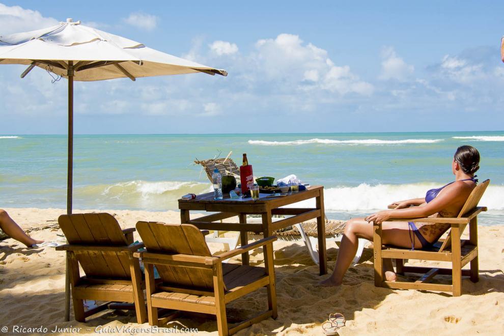 Foto barraca e luxo na Praia Rio Verde, Trancoso, BA.