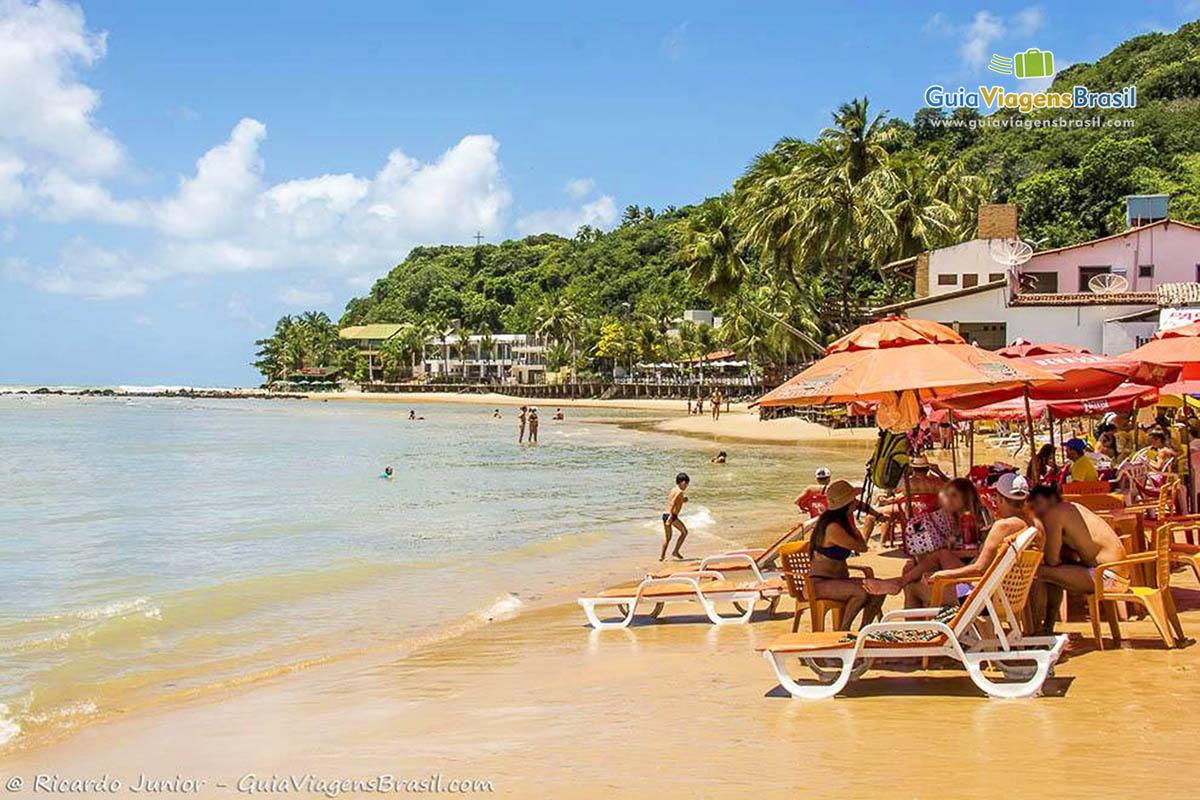 Foto agito da Praia de Pipa, RN.