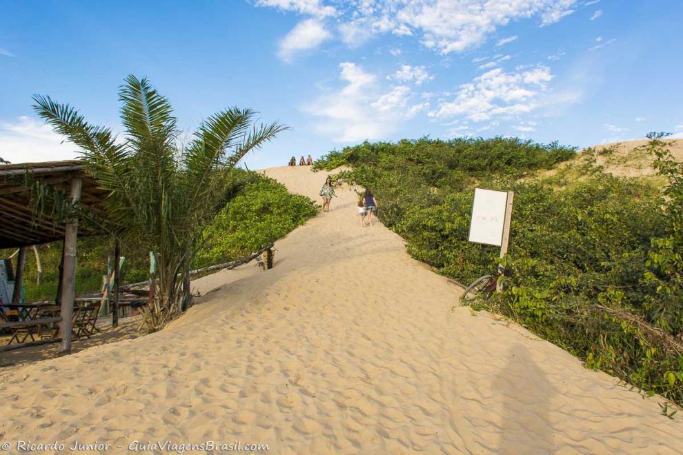 Foto duna Praia de Itaúnas, ES.