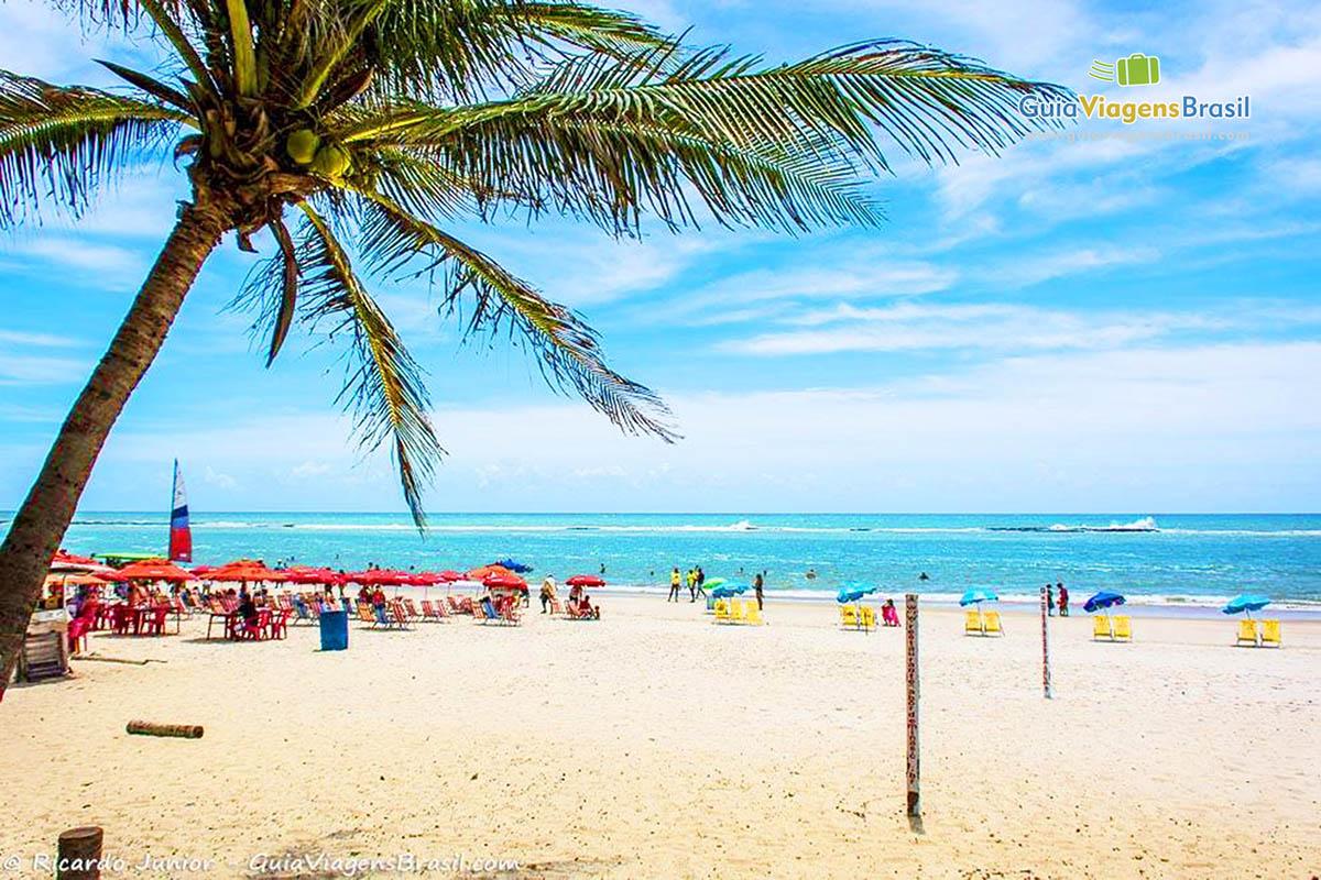 Imagem da entrada da praia, visão do paraíso, na Praia do ...